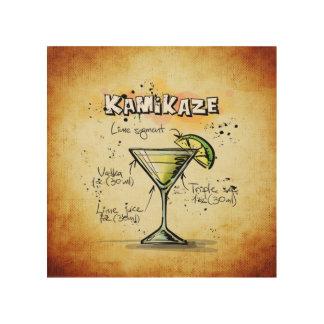 Kamikaze Cocktail Recipe Wood Wall Art