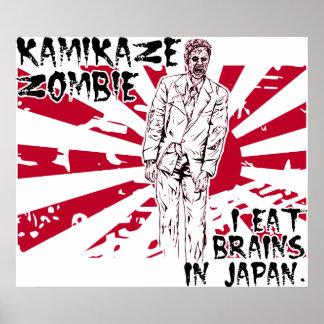 Kamikaze Zombie Poster
