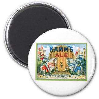Kamm's Ale Beer Vintage Drink Ad Art 6 Cm Round Magnet