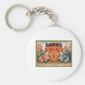 Kamm's Ale Vintage Label Basic Round Button Key Ring