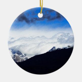 Kamnik Alps Round Ceramic Decoration