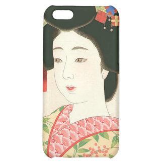 Kamoshita, Maiko Japanese Woodblock Print iPhone 5C Cases