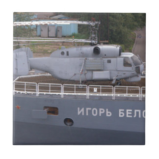Kamov KA27 Russian Helicopter Small Square Tile