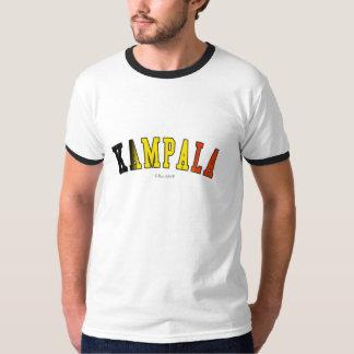 Kampala in Uganda national flag colors Tshirts