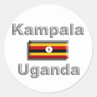 Kampala Round Sticker