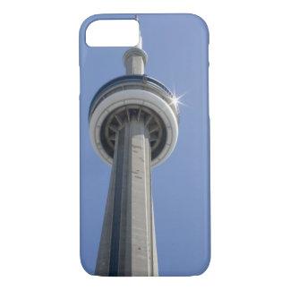 Kanada, Ontario, Toronto. Spitze von KN-Turm mit iPhone 8/7 Case