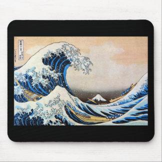 Kanagawa open sea 浪 reverse side, north 斎 mouse mat