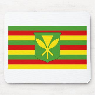 Kanaka Maoli Flag - Hawaiian Independence Flag Mouse Pad