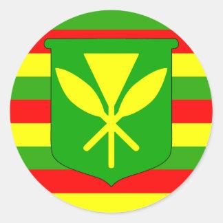 Kanaka Maoli Flag Round Sticker