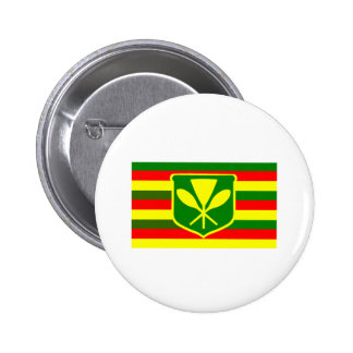 Kanaka Maoli - Native Hawaiian Flag 6 Cm Round Badge