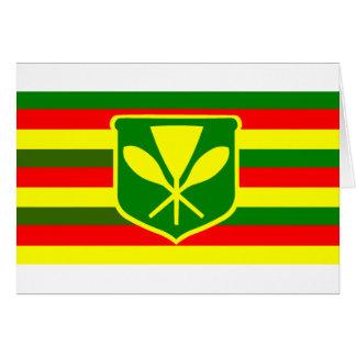 Kanaka Maoli - Native Hawaiian Flag Greeting Card
