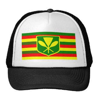 Kanaka Maoli - Native Hawaiian Flag Trucker Hats