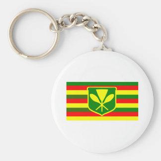 Kanaka Maoli - Native Hawaiian Flag Key Chain