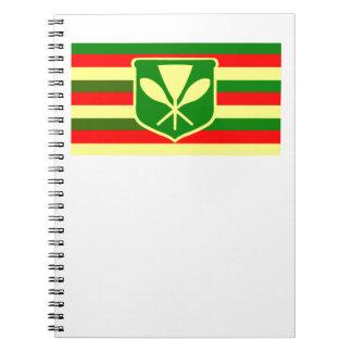 Kanaka Maoli - Native Hawaiian Flag Notebooks