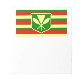 Kanaka Maoli - Native Hawaiian Flag Note Pad