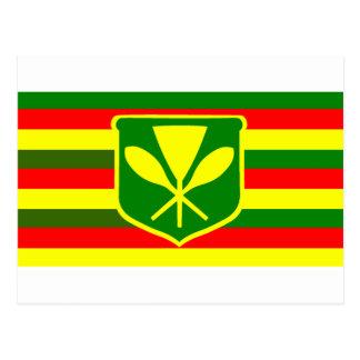 Kanaka Maoli - Native Hawaiian Flag Postcard