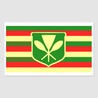 Kanaka Maoli - Native Hawaiian Flag Rectangular Sticker