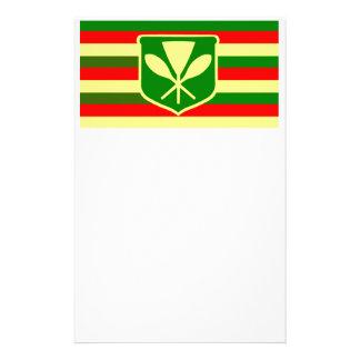Kanaka Maoli - Native Hawaiian Flag Stationery Design
