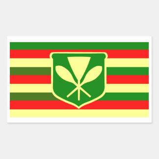 Kanaka Maoli - Native Hawaiian Flag Rectangular Sticker
