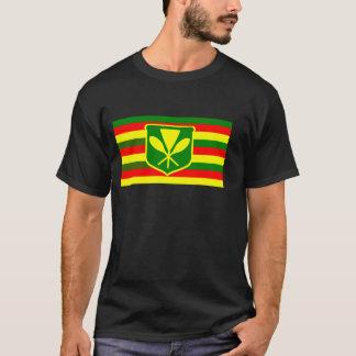 Kanaka Maoli - Native Hawaiian Flag T-Shirt