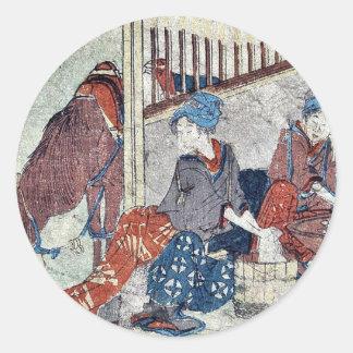 Kanaya  by Katsushika, Hokusai Ukiyoe Sticker
