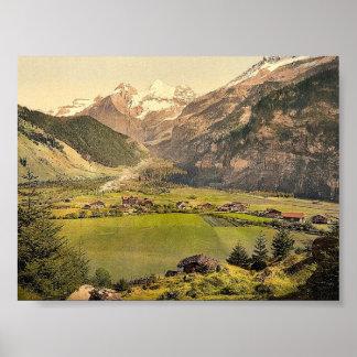 Kandersteg village and Blumlisalp mountain group, Poster