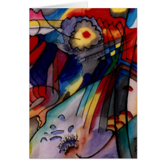 Kandinsky 1913 Abstract Painting Greeting Card