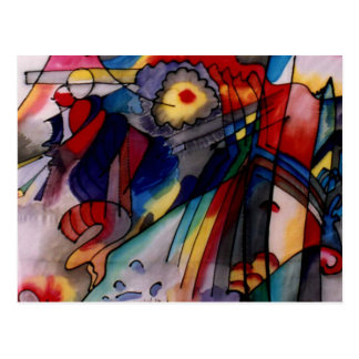 Kandinsky 1913 Abstract Painting Postcard