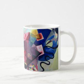 Kandinsky 1925/yellow/red/blue/pixdezines basic white mug