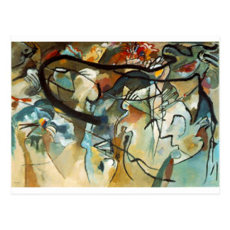 kandinsky abract art postcard