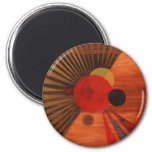 Kandinsky Abstract art 6 Cm Round Magnet