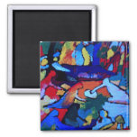 Kandinsky Abstract art Square Magnet