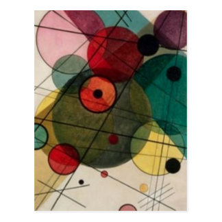 Kandinsky Abstract Circles in a Circle Postcard