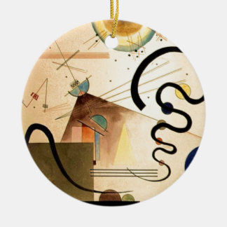 Kandinsky Abstract Round Ceramic Decoration