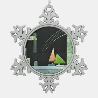 Kandinsky - At Rest Snowflake Pewter Christmas Ornament