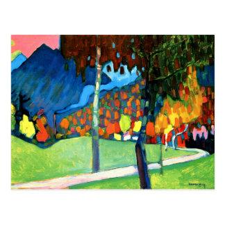Kandinsky - Autumn Study in Oberau Postcard