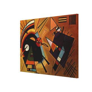 Kandinsky - Black and Violet Canvas Print