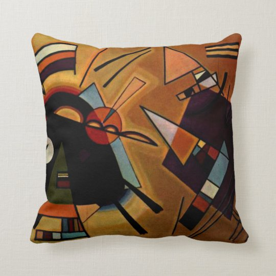 Kandinsky - Black and Violet Cushion