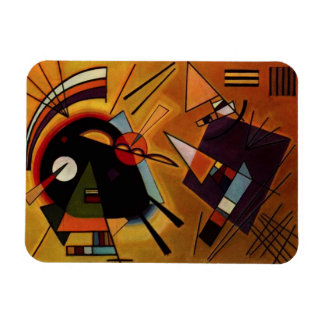 Kandinsky Black and Violet Magnet