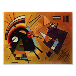 Kandinsky Black and Violet Photo Print