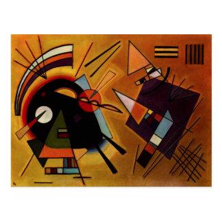 Kandinsky Black and Violet Postcard
