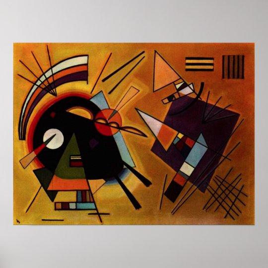 Kandinsky Black and Violet Poster