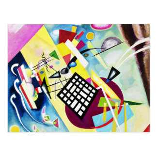 Kandinsky Black Grid Postcard
