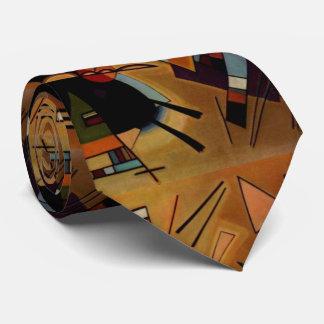 Kandinsky Black Violet Abstract Painting Tie