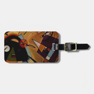 Kandinsky Black Violet Luggage Tag