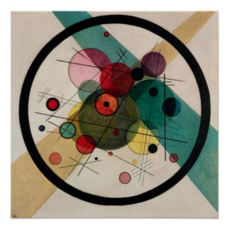 Kandinsky Circles in a Circle Painting Poster