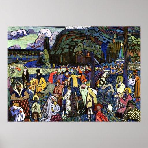Kandinsky - Colourful Life Poster