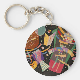 Kandinsky Composition 10 Abstract Painting Basic Round Button Key Ring