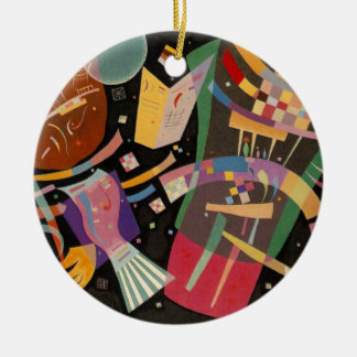 Kandinsky Composition X Abstract Artwork Round Ceramic Decoration