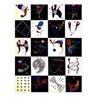 Kandinsky creative artwork, 4x5=20 postcards